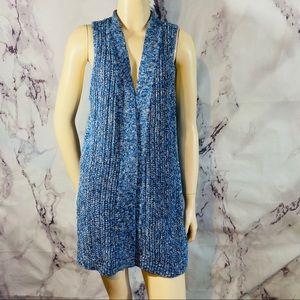 Gap knit crochet open front cardigan sz L new $54